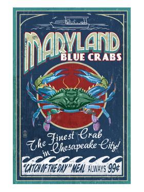 Chesapeake City, Maryland - Blue Crab by Lantern Press