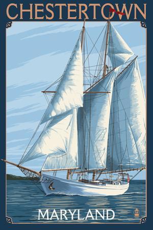 Chestertown, Maryland - Sailboat Scene