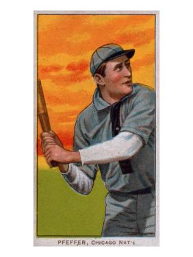 Chicago, IL, Chicago Cubs, Big Jeff Pfeffer, Baseball Card by Lantern Press