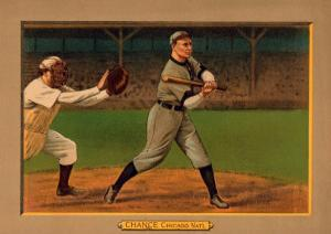 Chicago, IL, Chicago Cubs, Frank Chance, Baseball Card by Lantern Press