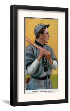 Chicago, IL, Chicago Cubs, Joe Tinker, Baseball Card by Lantern Press
