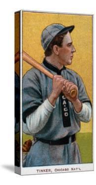 Chicago, IL, Chicago Cubs, Joe Tinker, Baseball Card by Lantern Press