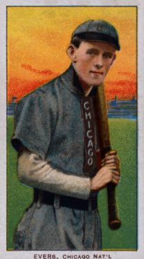 Chicago, IL, Chicago Cubs, Johnny Evers, Baseball Card by Lantern Press
