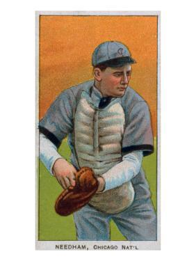Chicago, IL, Chicago Cubs, Tom Needham, Baseball Card by Lantern Press