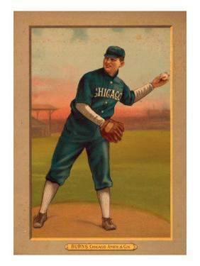 Chicago, IL, Chicago White Sox, Bill Burns, Baseball Card by Lantern Press