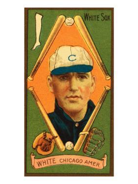 Chicago, IL, Chicago White Sox, G. H. White, Baseball Card by Lantern Press