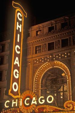 Chicago, Illinois - Chicago Theatre by Lantern Press