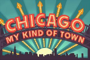 Chicago, Illinois - Marquee by Lantern Press