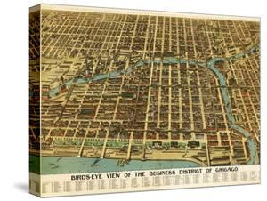 Chicago, Illinois - Panoramic Map by Lantern Press