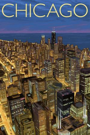 Chicago, Illinois, View of City from Sears Tower
