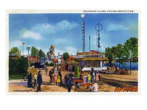 Chicago, Illinois - World's Fair; Enchanted Island by Lantern Press
