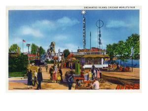 Chicago, Illinois - Worlds Fair; Enchanted Island Scene by Lantern Press