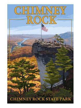 Chimney Rock State Park, NC - View from Top by Lantern Press