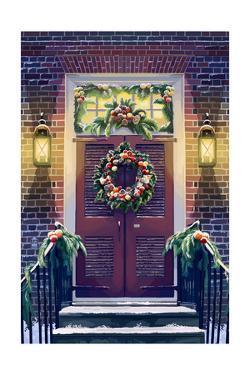 Christmas Door by Lantern Press