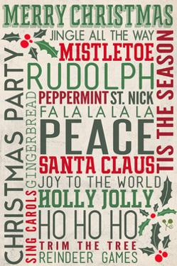 Christmas Typography by Lantern Press