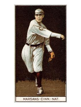 Cincinnati, OH, Cincinnati Reds, Armando Marsans, Baseball Card by Lantern Press