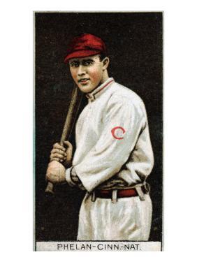 Cincinnati, OH, Cincinnati Reds, Arthur Phelan, Baseball Card by Lantern Press