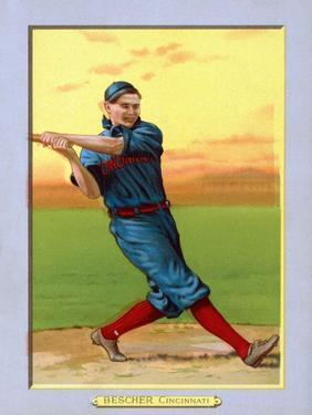 Cincinnati, OH, Cincinnati Reds, Bob Bescher, Baseball Card by Lantern Press