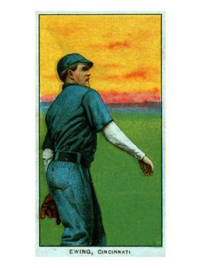 Cincinnati, OH, Cincinnati Reds, Bob Ewing, Baseball Card by Lantern Press