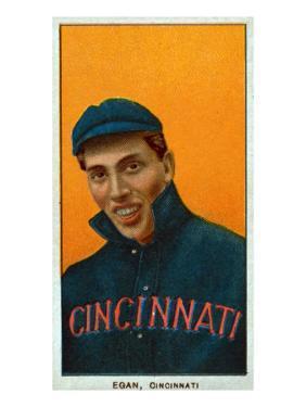 Cincinnati, OH, Cincinnati Reds, Dick Egan, Baseball Card by Lantern Press