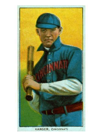 Cincinnati, OH, Cincinnati Reds, Ed Karger, Baseball Card by Lantern Press