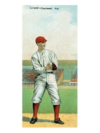 Cincinnati, OH, Cincinnati Reds, Edward Grant, Baseball Card by Lantern Press