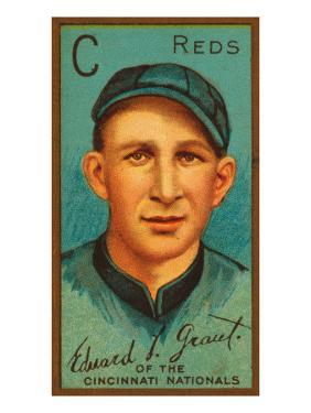 Cincinnati, OH, Cincinnati Reds, Edward L. Grant, Baseball Card by Lantern Press