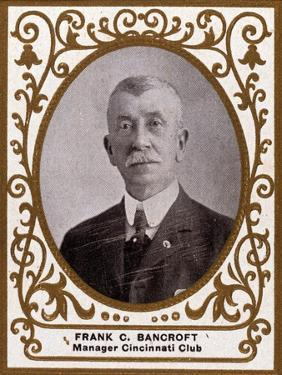 Cincinnati, OH, Cincinnati Reds, Frank C. Bancroft, Baseball Card by Lantern Press