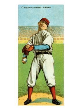 Cincinnati, OH, Cincinnati Reds, H. L. Gaspar, Baseball Card by Lantern Press