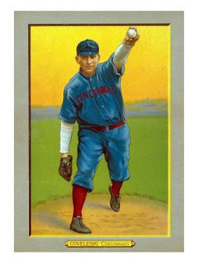 Cincinnati, OH, Cincinnati Reds, Harry Coveleski, Baseball Card by Lantern Press