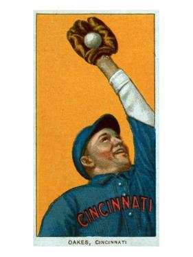 Cincinnati, OH, Cincinnati Reds, Rebel Oakes, Baseball Card by Lantern Press