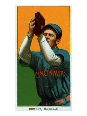 Cincinnati, OH, Cincinnati Reds, Tom Downey, Baseball Card by Lantern Press