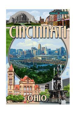 Cincinnati, Ohio - Montage Scenes by Lantern Press