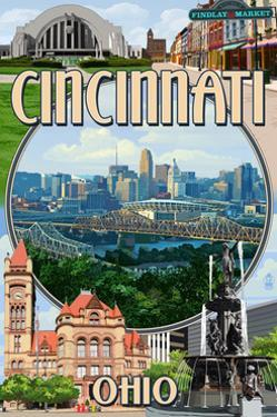 Cincinnati, Ohio - Montage Scenes by Lantern Press