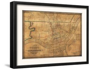 Cincinnati, Ohio - Panoramic Map by Lantern Press