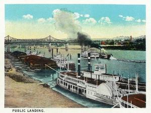Cincinnati, Ohio - Public Boat Landing Scene by Lantern Press