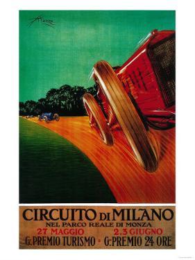 Circuito Di Milano Vintage Poster - Europe by Lantern Press