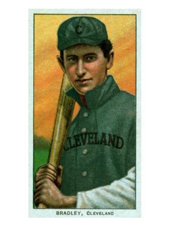 Cleveland, OH, Cleveland Naps, Bill Bradley, Baseball Card by Lantern Press