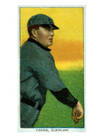 Cleveland, OH, Cleveland Naps, Cy Young, Baseball Card by Lantern Press