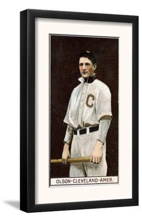 Cleveland, OH, Cleveland Naps, Ivan Olson, Baseball Card by Lantern Press