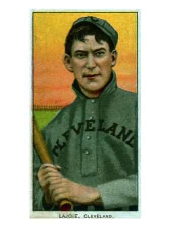 Cleveland, OH, Cleveland Naps, Nap Lajoie, Baseball Card by Lantern Press