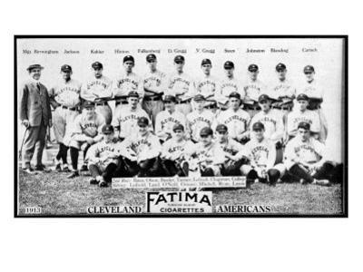 Cleveland, OH, Cleveland Naps, Team Photograph, Baseball Card by Lantern Press