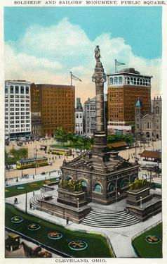 Cleveland, Ohio - Public Square Soldiers and Sailors Monument by Lantern Press