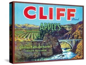 Cliff Apple Label - Chelan Falls, WA by Lantern Press