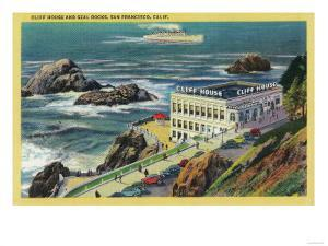 Cliff House and Seal Rocks - San Francisco, CA by Lantern Press