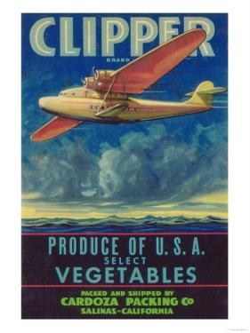 Clipper Vegetable Label - Salinas, CA by Lantern Press