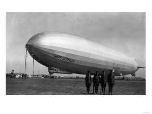 Close-Up Graf Zeppelin Blimp View by Lantern Press