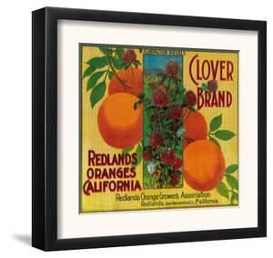 Clover Orange Label - Redlands, CA by Lantern Press