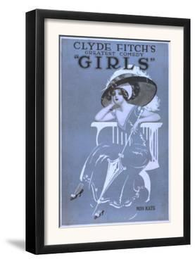 "Clyde Fitch's Greatest Comedy, ""Girls"" Theatre Poster No.2 by Lantern Press"