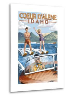 Coeur D'Alene, Idaho - Water Skiing Scene by Lantern Press